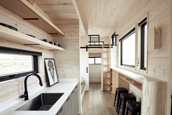 Tiny House Life in Agnes from a Shell Kit